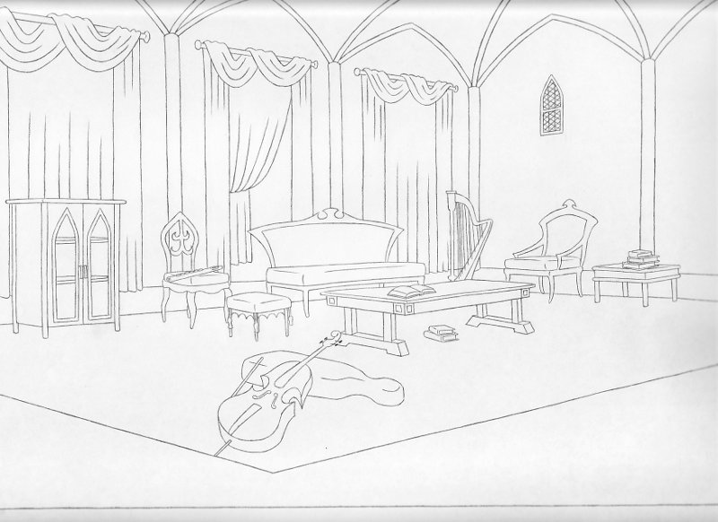 The Fall Of The House Of Usher Drawings